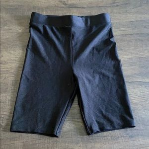 NWT - H&M Black Spandex Biker Shorts - XS